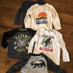 Boys old Navy long sleeved tops.